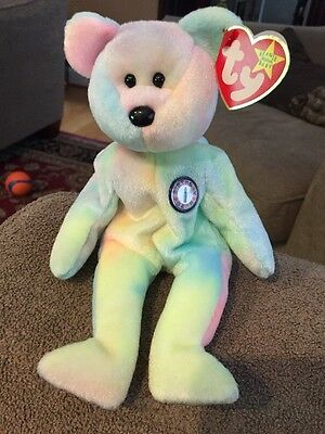d78fe5b12e8 TY ORIGINAL BEANIE Babies BB the Birthday Bear (Retired) -  7.95 ...