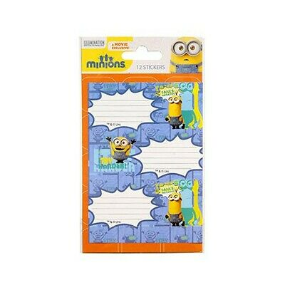 Lot de 12 étiquettes Minions  Bello