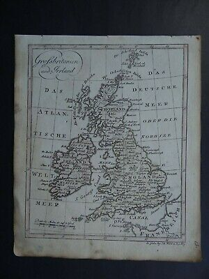 1811 Johann WALCH  atlas map BRITISH ISLES - Grossbritanien - England Ireland UK