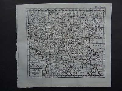 1752  Atlas  SANSON map  TURKEY in EUROPE - Turquie en Europe