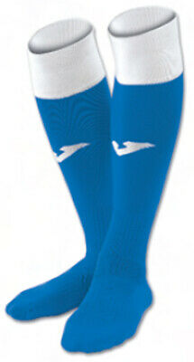 Joma Calcio 24 Socks. Colour Royal & White.Available in Sizes Small/Medium/Larg