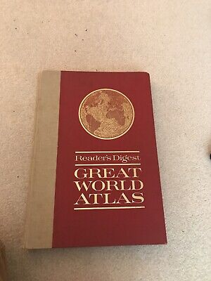 1963 Readers Digest Great World Atlas Hardcover First Edition