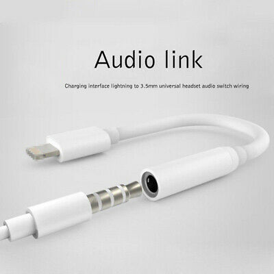 For iPhoneX XS 7 8/Plus Adapter Lightening to 3.5mm Jack Earphone Cable Aux New
