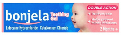 Bonjela Teething Gel Double Action 2 months +/ 15g  **FREE Delivery