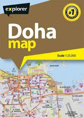 Doha City Map by Explorer Publishing and Distribution New Paperback Book
