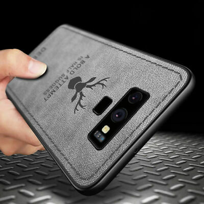For Samsung S10 S9 S8 Plus Cloth Texture Case Soft TPU Silicone Shockproof Cover