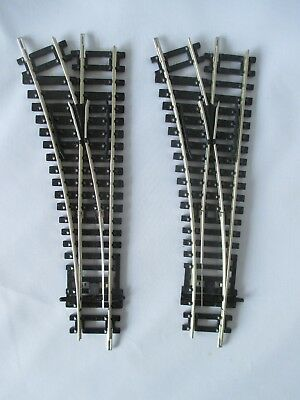 2 x HORNBY R8072 LEFT HAND NICKEL SILVER POINTS (TURN OUTS) . EXC. NO SLEEVES