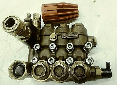 COMET ZWD-K 4040 Pump Head MANIFOLD w/ Unloader, Valves, Seals - USED- TESTED