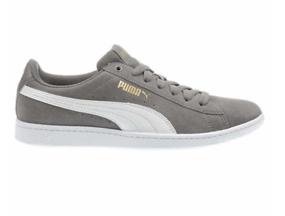 d9019ae304c NEW Puma Women s Vikky Gray Suede Classic Low-Top Sneaker Tennis Shoes PICK  SIZE