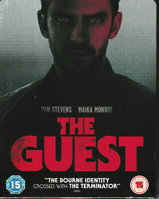 The Guest - Limited Edition STEELBOOK Blu Ray - Brand New & Sealed