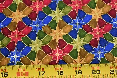 "N2635 Fabri-Quilt///""Quilting Bee/"" By 1//2 Yd Bright Floral Patchwork on Cotton"