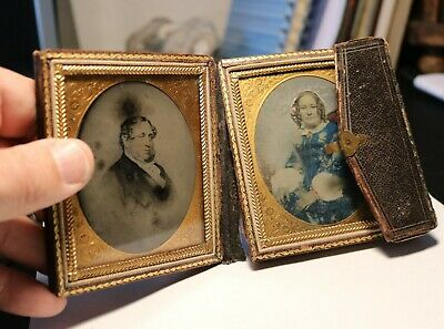 Antique ambrotype photo of husband and wife #6728