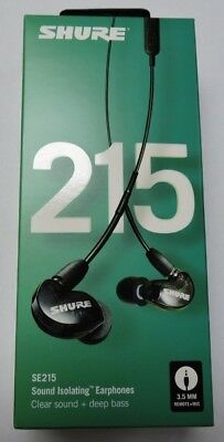 Shure SE215 Sound Isolating Earphones 3.5mm Wired Black