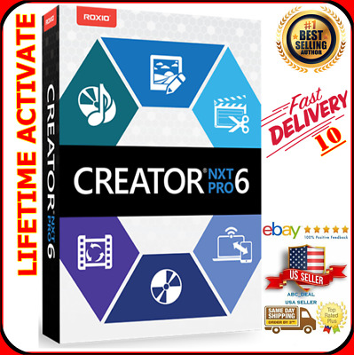 Roxio Creator NXT 6 Pro [pro content included bonus ]lifetime key [download]