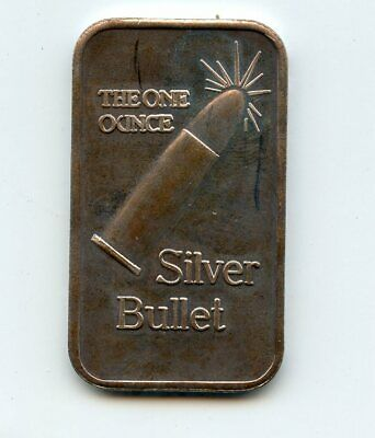 The One Ounce Silver Bullet 1 Troy OZ .999 Fine Silver Bar