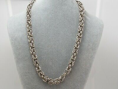 Vintage Large Heavy Sterling Silver 925 Chain Necklace 82.5 grams