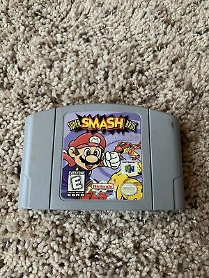 N64 Game Super Smash Bros Video Game Cartridge Console CARD US VERSION