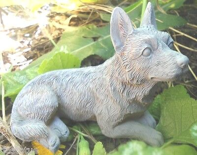 """Latex shepherd dog mold plaster cement casting mould 4.5""""L x 2""""W"""
