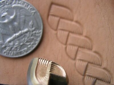 013-02 Braid 12mm Stamp BRASS leather Tool Saddlery Punch 3D