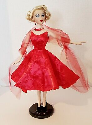 """""""evening In Red"""" Ooak Outfit For Gene Or Similar Size Dolls"""