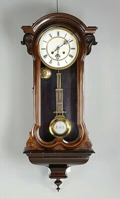 Stunning Small Rosewood Serpentine Case French Bell Striking Vienna wall clock
