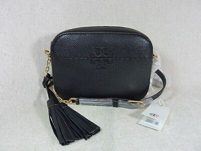 e3565fe0b78b NWT TORY BURCH Black Leather McGraw Camera Cross Body Bag  298 ...