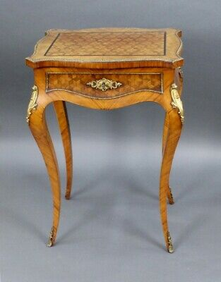 Elegant Late 19th c. French Marquetry Ladies Vanity Table