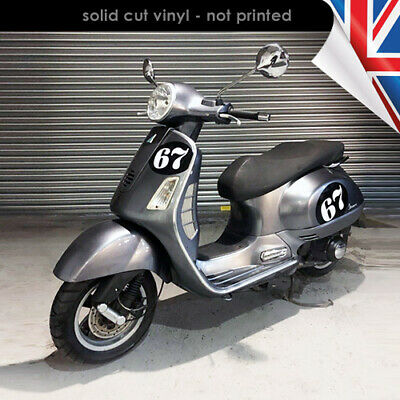 Magnel Oval Number - 250x200mm Vinyl Decal / Sticker - Scooter Vespa 2102-0219B