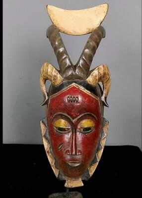 Old Tribal Guro  Mask -- Coted'Ivoire BN 47