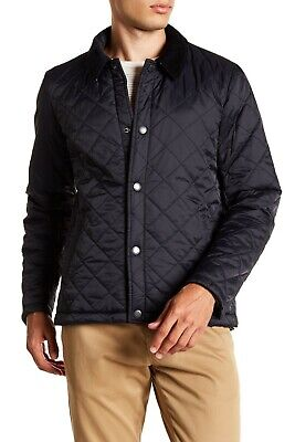 Barbour Holme Navy Blue Men's Quilted Water Resistant Jacket Size XXL 2XL