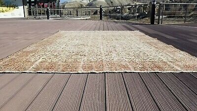 Authentic Cr1930-1939s Antique  Wool Pile Muted Colors Hereke Rug 8x9'7""