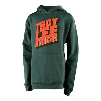 Troy Lee Designs Block Party Youth Pull Over Hoody Alpine Green