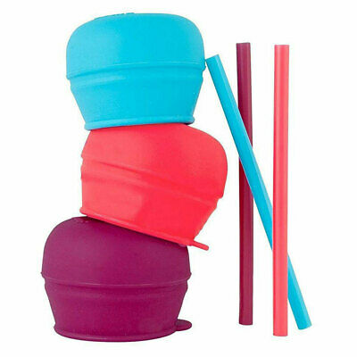 3pc Boon Snug Straw Baby/Girl/12m+/Infant Universal Cup Cover/Lid Pink/Blue/PP