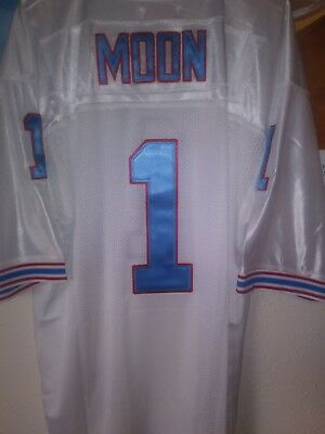 c1d2c7a6c WARREN MOON  1 MITCHELL   NESS THROWBACK NFL JERSEY SIZE 54 Houston ...