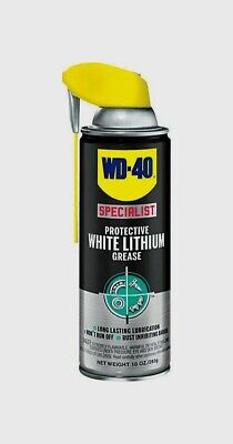 WD-40 300240 Specialist Protective White Lithium Grease Spray, White, 10 Oz