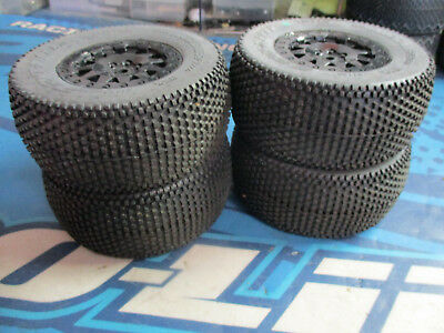 Pro-line blockade 1/10 truck tires and rims 12mm NEW