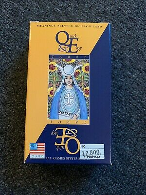 Quick & Easy Tarot Card Deck Us Games Esoteric Occult Magick Cards