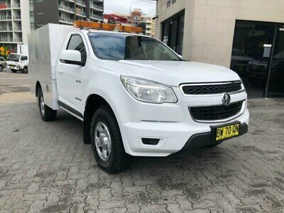 2013 Holden Colorado RG LX (4x2) White Automatic 6sp A Cab Chassis