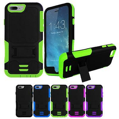 Heavy Duty Box Protective Hard Case Cover With Kickstand For IPhone 7 / 7S / 4.7