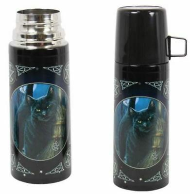 21CM BRUSH WITH MAGIC 350ML STAINLESS STEEL FLASK by Lisa Parker Witch Wicca