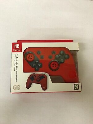 Nintendo Switch Pro Controller Silicone Action Pack Grip - Red