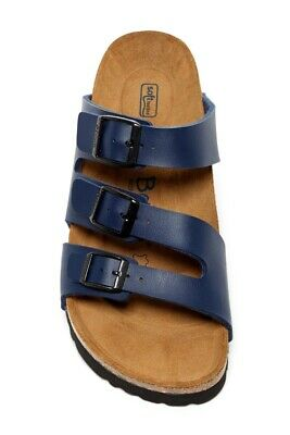 892174476794 Betula by Birkenstock Soft Footbed 3 Strap Sandals in Navy Blue Size 8 US-39