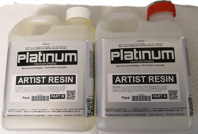 Artist RESIN for EPOXY RESIN ART, SUPER CLEAR coating - UV stable 2 Ltr kit 1:1