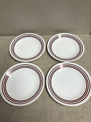 """Corelle by Corning """"Ruby Red"""" set of 4 bread/butter plates new never used"""