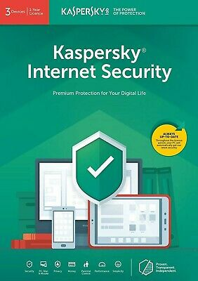 KASPERSKY Internet Security 2019 3 Devices /1yr  2021 ready EMAILED *Same Day UK