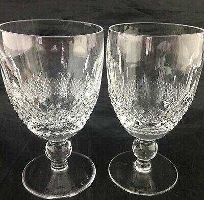 Waterford Clear Crystal Colleen Short Stem Wine/water Glass/goblet Pair