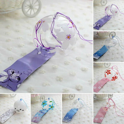 Japanese Style Glass Wind Chimes Blessings Bells Room Hanging Furin Wind  Chimes