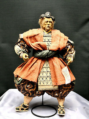 Magnificent Antique Japanese Papier Mache Samurai In Yoroi Armor Circa 1800s