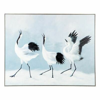 NEW CAFE Lighting & Living Crane Lake Framed Oil Painting