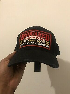 85ee5c9dbdd63 Dsquared Dean Caten DSQ Dsquared2 Baseball hat Dsq2 Patch Baseball Cap BLACK